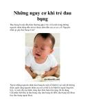 Những nguy cơ khi trẻ đau bụng