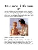 Trẻ còi xương - Ý kiến chuyên gia