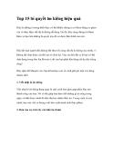 Top 15 bí quyết ăn kiêng hiệu quả