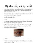 Bệnh chắp và lẹo mắt