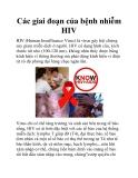 Các giai đoạn của bệnh nhiễm HIV