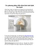 Các phương pháp chẩn đoán hình ảnh bệnh tim mạch