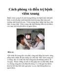 Cách phòng và điều trị bệnh viêm xoang