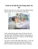 Cách xử trí khi bị côn trùng chui vào tai