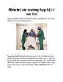 Điều trị các trường hợp bệnh van tim