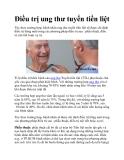 Điều trị ung thư tuyến tiền liệt