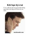 Khi bạn bị ù tai