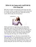 Kiên trì súc họng nước muối khi bị viêm họng hạt