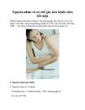 Nguyên nhân và cơ chế gây nên bệnh viêm tiết niệu