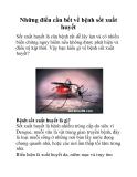 Những điều cần bết về bệnh sốt xuất huyết