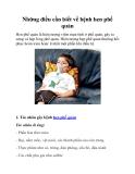 Những điều cần biết về bệnh hen phế quản