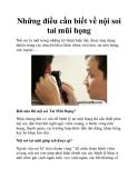 Những điều cần biết về nội soi tai mũi họng