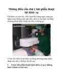Những điều cần chú ý khi phẫu thuật tật khúc xạ