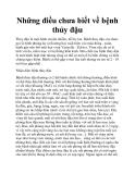 Những điều chưa biết về bệnh thủy đậu