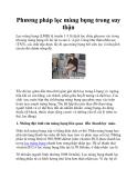 Phương pháp lọc màng bụng trong suy thận