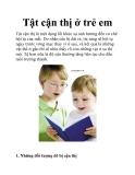 Tật cận thị ở trẻ em