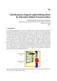 Organic Light Emitting Diode Material Process and Devices Part 13