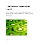 21 thực phẩm giảm cân đã được thế giới công nhận