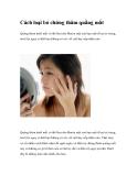 Cách loại bỏ chứng thâm quầng mắt
