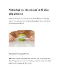 Những loại trái cây, rau quả và đồ uống giúp giảm cân