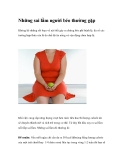 Những sai lầm người béo thường gặp