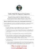 Fallon Tribal Development Corporation Request for Proposal #2011-04 – Financial Audit Services Proposal Submission Deadline: 5:00pm on Thursday, November 10, 2011