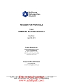 REQUEST FOR PROPOSALS Project  FINANCIAL AUDITING SERVICES Due Date: April 28, 2011
