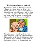 Tìm lại giấc ngủ sâu cho người già