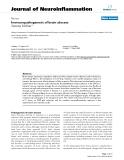 """báo cáo hóa học: """"  Immunopathogenesis of brain abscess"""""""
