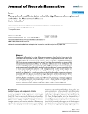 """báo cáo hóa học: """" Using animal models to determine the significance of complement activation in Alzheimer's disease"""""""