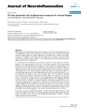 """báo cáo hóa học: """"  On the potential role of glutamate transport in mental fatigue"""""""