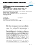 "báo cáo hóa học: ""  Effect of pioglitazone treatment in a patient with secondary multiple sclerosis"""