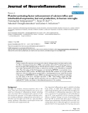 """báo cáo hóa học: """"  Platelet-activating factor enhancement of calcium influx and interleukin-6 expression, but not production, in human microglia"""""""