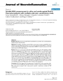 "báo cáo hóa học: "" Soluble HLA measurement in saliva and cerebrospinal fluid in Caucasian patients with multiple sclerosis: a preliminary study"""