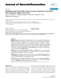 """báo cáo hóa học: """" Apolipoprotein E-specific innate immune response in astrocytes from targeted replacement mice"""""""