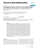 """báo cáo hóa học: """" Leader (L) and L* proteins of Theiler's murine encephalomyelitis virus (TMEV) and their regulation of the virus' biological activities"""""""