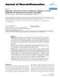 "báo cáo hóa học: ""  Expression of innate immune complement regulators on brain epithelial cells during human bacterial meningitis"""