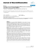 """báo cáo hóa học: """" Inhibition of secreted phospholipase A2 by neuron survival and anti-inflammatory peptide CHEC-9"""""""