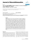 "báo cáo hóa học: ""  The microglial NADPH oxidase complex as a source of oxidative stress in Alzheimer's disease"""