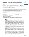 "báo cáo hóa học: ""  Peripheral reductive capacity is associated with cognitive performance and survival in Alzheimer's disease"""
