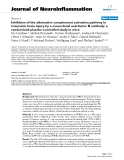 """báo cáo hóa học: """" Inhibition of the alternative complement activation pathway in traumatic brain injury by a monoclonal anti-factor B antibody: a randomized placebo-controlled study in mice"""""""