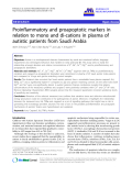 """báo cáo hóa học: """" Proinflammatory and proapoptotic markers in relation to mono and di-cations in plasma of autistic patients from Saudi Arabia"""""""