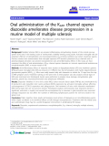 """báo cáo hóa học: """"  Oral administration of the KATP channel opener diazoxide ameliorates disease progression in a murine model of multiple sclerosis"""""""
