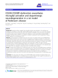 "báo cáo hóa học: ""  CD200-CD200R dysfunction exacerbates microglial activation and dopaminergic neurodegeneration in a rat model of Parkinson's disease"""