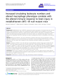"""báo cáo hóa học: """" Increased circulating leukocyte numbers and altered macrophage phenotype correlate with the altered immune response to brain injury in metallothionein (MT) -I/II null mutant mice"""""""