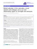 "báo cáo hóa học: "" Methyl salicylate 2-O-b-D-lactoside, a novel salicylic acid analogue, acts as an antiinflammatory agent on microglia and astrocytes"""