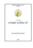 Giáo trình Cơ học lượng tử - ThS. Nguyễn Duy Hưng