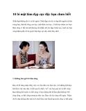 10 bí mật làm đẹp cực độc bạn chưa biết