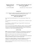Quyết định số 35/2011/NQ-HĐND