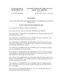 Quyết định số 47/2011/QĐ-UBND